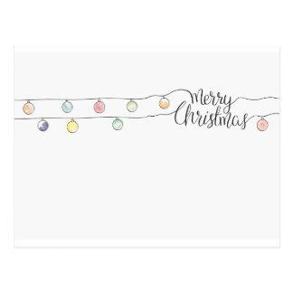 Postal luces del Poscard-navidad