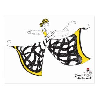 Postal Lucía - señora Butterfly