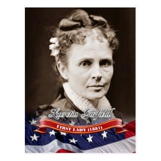 Postal Lucretia Garfield, primera señora de los E.E.U.U.