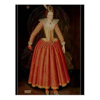 Postal Lucy Harrington, condesa de Bedford