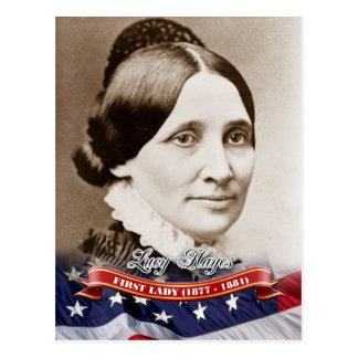 Postal Lucy Hayes, primera señora de los E.E.U.U.