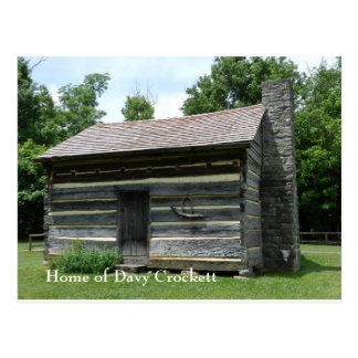 Postal Lugar de nacimiento de Davy Crockett
