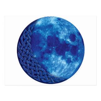 Postal Luna azul céltica