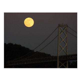 Postal Luna Llena sobre el puente San Francisco 01/10/09