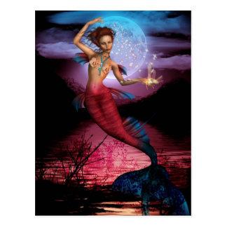 Postal Luna mágica de la sirena