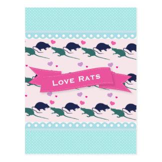 Postal Lunar de las ratas del amor