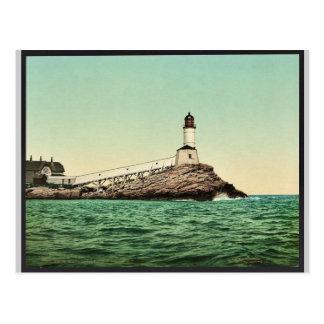 Postal Luz blanca de la isla, islas de los bajíos, N.H.