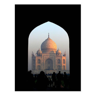 Postal Luz del Taj Mahal de la foto de la arquitectura de