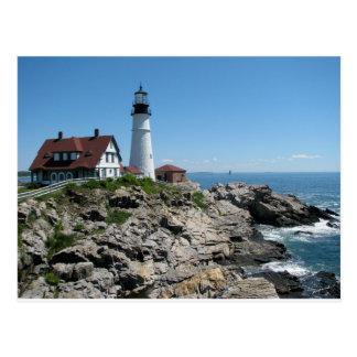 Postal Luz principal de Portland, Maine, los E.E.U.U.