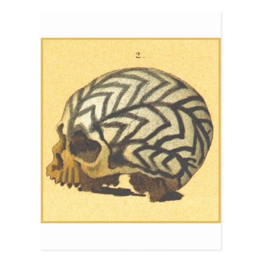 Postal Macabro: Cráneo - Nueva Guinea