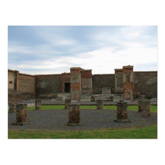 Postal Macellum (mercados) en Pompeya antiguo