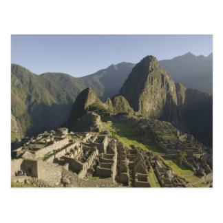 Postal Machu Picchu, ruinas de la ciudad del inca, Perú