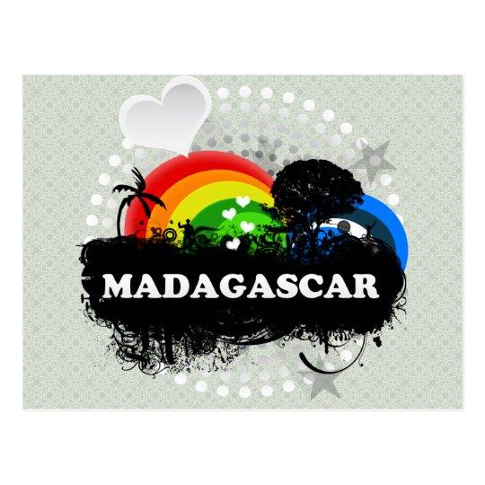Postal Madagascar con sabor a fruta lindo