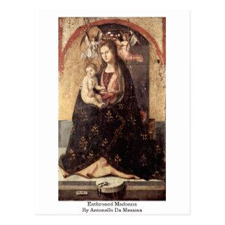 Postal Madonna Enthroned de Antonello DA Messina