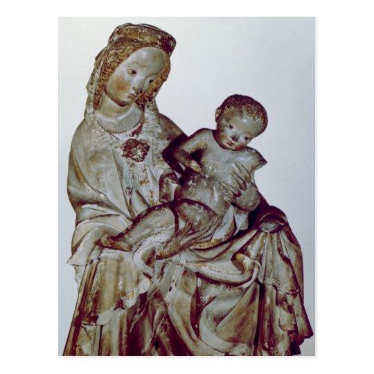 Postal Madonna y niño, conocidos como el Krumauer