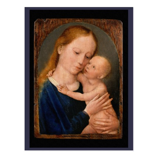 Postal Madonna y niño de Cristo
