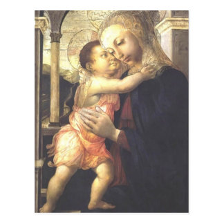 Postal Madonna y niño de Jacopo Bellini