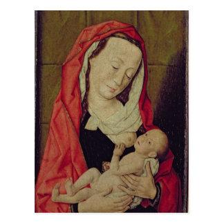 Postal Madonna y niño (el panel)