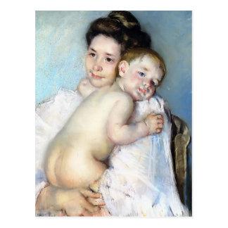 Postal Madre Berthe de Maria Cassatt- que detiene a su