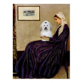 Postal Madre de las marmotas - algodón de Tulear 2