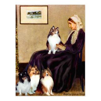 Postal Madre de las marmotas de los perros pastor de