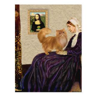Postal Madre de las marmotas - gato persa rojo