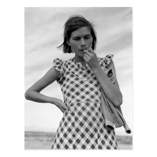 Postal Madre joven en California 1937