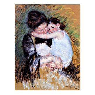 Postal Madre y niño - ilustraciones de Mary Cassatt, 1900