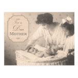 Postal Madre y niños del vintage
