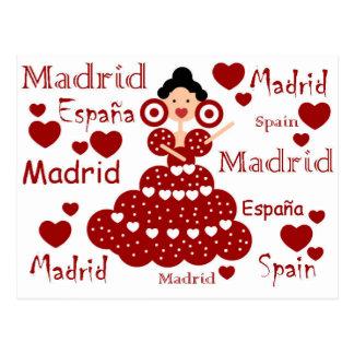 Postal Madrid España muñeca flamenca
