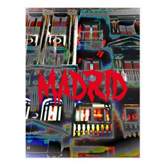 Postal Madrid por la noche  en la Gran Vía (España)