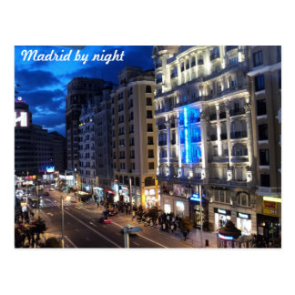 Postal Madrid por noche