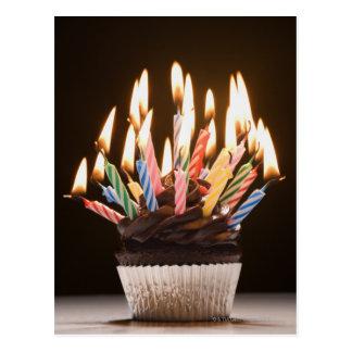 Postal Magdalena con las velas del cumpleaños