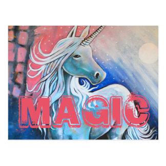 Postal Magia el unicornio