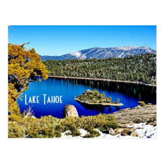Postal magnífica del lago Tahoe