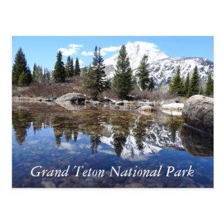 Postal magnífica del parque nacional de Teton