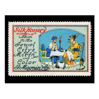 Postal Magnin San Francisco del sello del poster