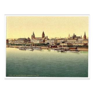 Postal Maguncia, del puente del Rin, el Rin, magni de