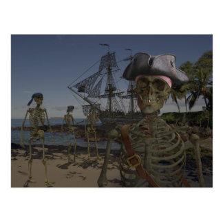 Postal Maldición de los piratas