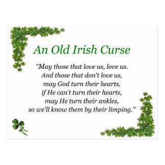 Postal maldición del irlandés