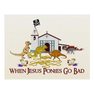 Postal Malos potros de Jesús