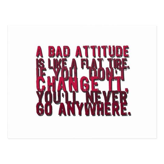 Postal malos productos de la actitud
