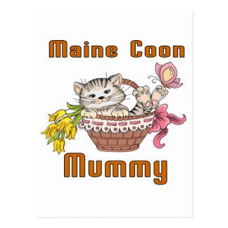 Postal Mamá del gato de Coon de Maine