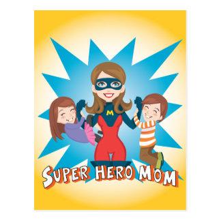 Postal Mamá del superhéroe