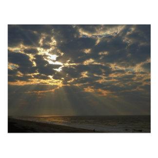 Postal Mañana Sun en el océano - isla del roble, NC