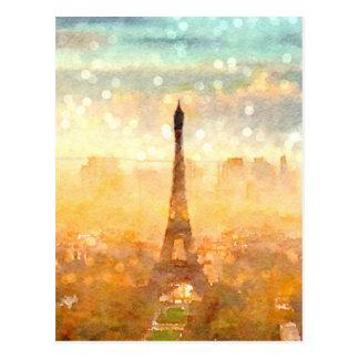 Postal Mañana temprana de París