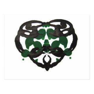 Postal Mancha de tinta verde céltica