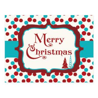 Postal manchada moderna de las Felices Navidad