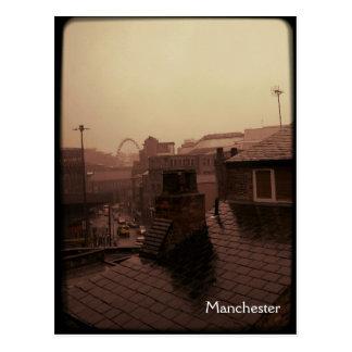 Postal Manchester - ciudad lluviosa