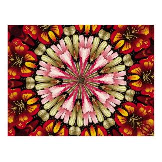 Postal Mandala botánica de los sueños